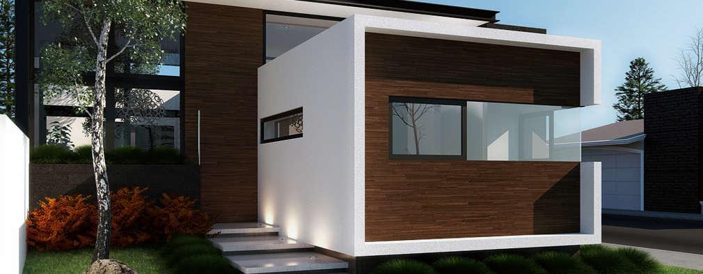Projekty, nowoczesne Domy zaprojektowane przez Wowa
