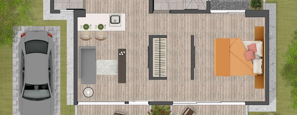 Casas de estilo minimalista por CS Arquitectos