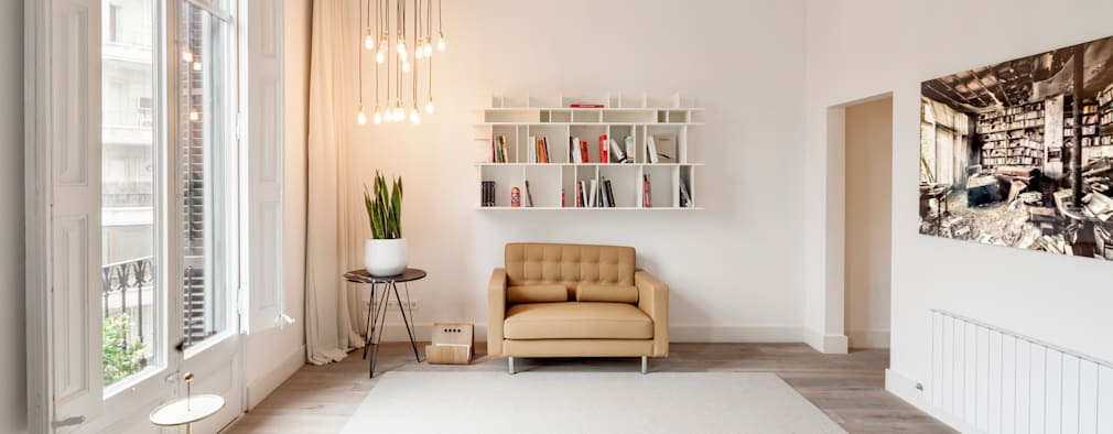 minimalistic Living room by Alex Gasca, architects.