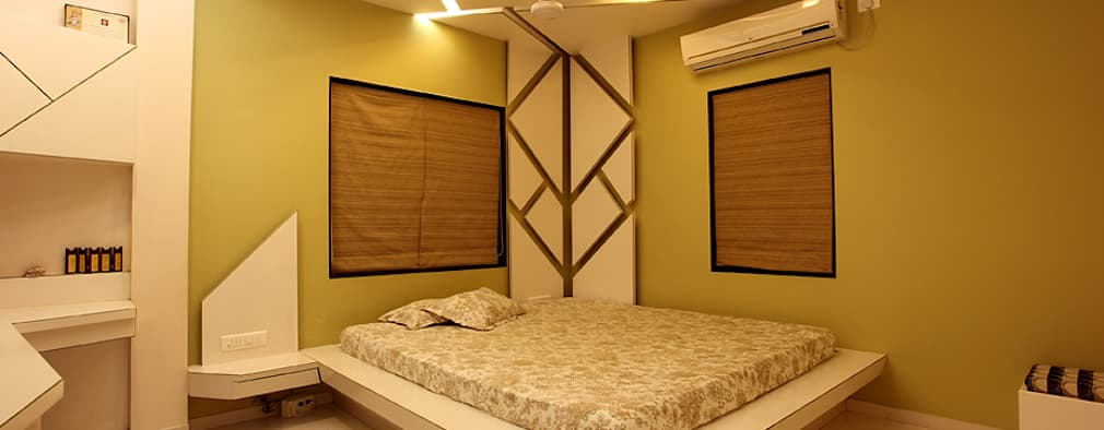 10 gorgeous small bedroom designs for indian homes for Small bedroom with attached bathroom designs