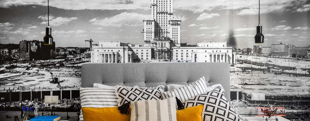 Our photoshoot of apartment design by D Plus Dagmara Zawadzka : styl , w kategorii Sypialnia zaprojektowany przez Ayuko Studio