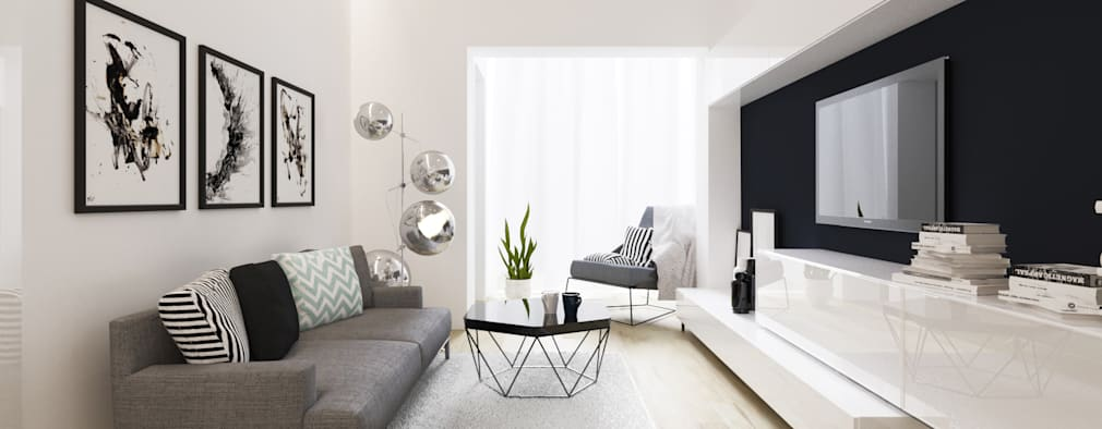 Moderne Wohnzimmer Von ZR Architects