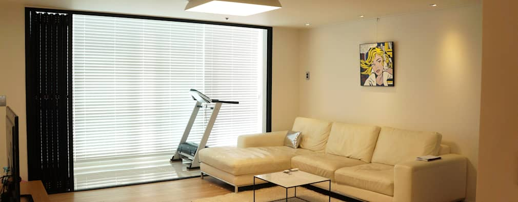 modern Living room by 디자인브리드