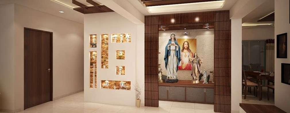 4 bedroom apartment at SJR Watermark:  Corridor & hallway by ACE INTERIORS