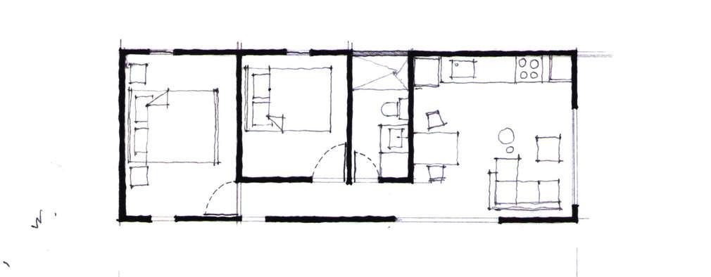 5 casas de un piso preciosas con los planos para for Alfombras 3x3 metros