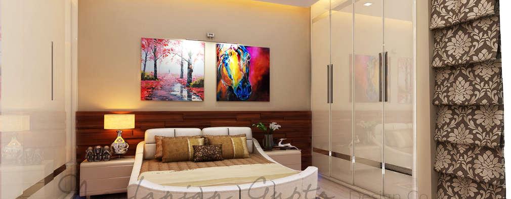 mom's bedroom:   by Neelanjan Gupto Design Co