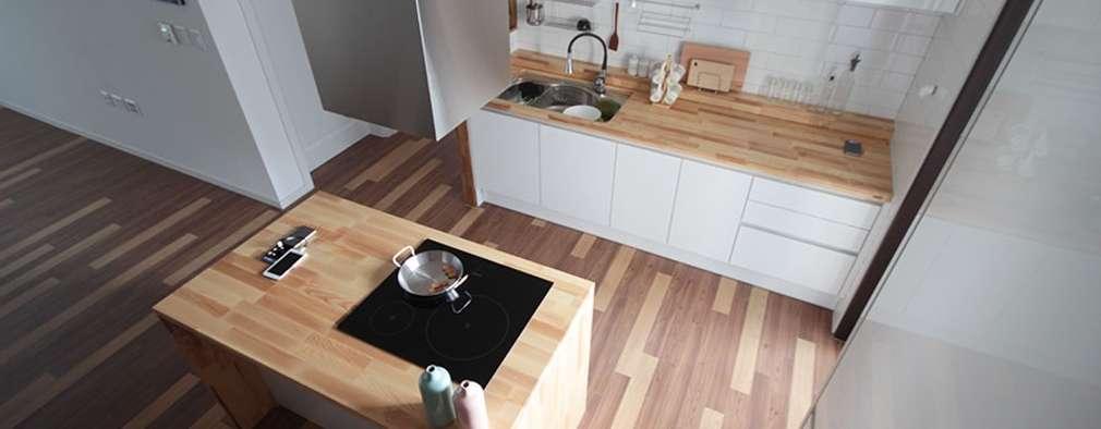 modern Kitchen by 디자인스튜디오 레브