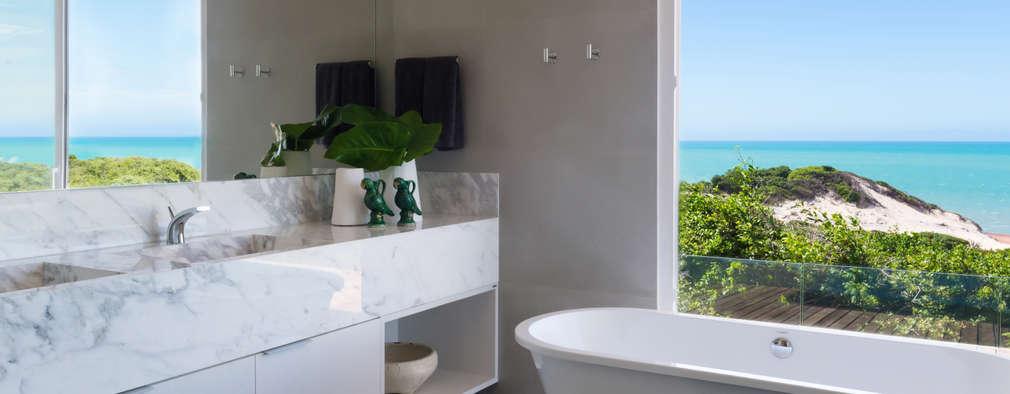 Salle de bain de style de style Tropical par Renata Matos Arquitetura & Business