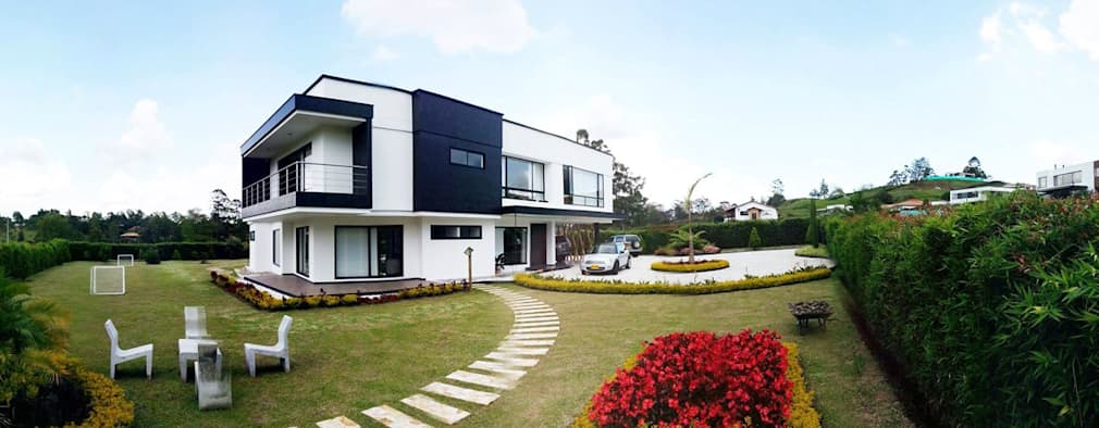32 fachadas de casas de dos pisos que debes ver antes de for Casa minimalista 6x15