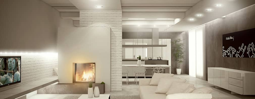 Projekty,  Salon zaprojektowane przez Giuseppe DE DONNO - architetto