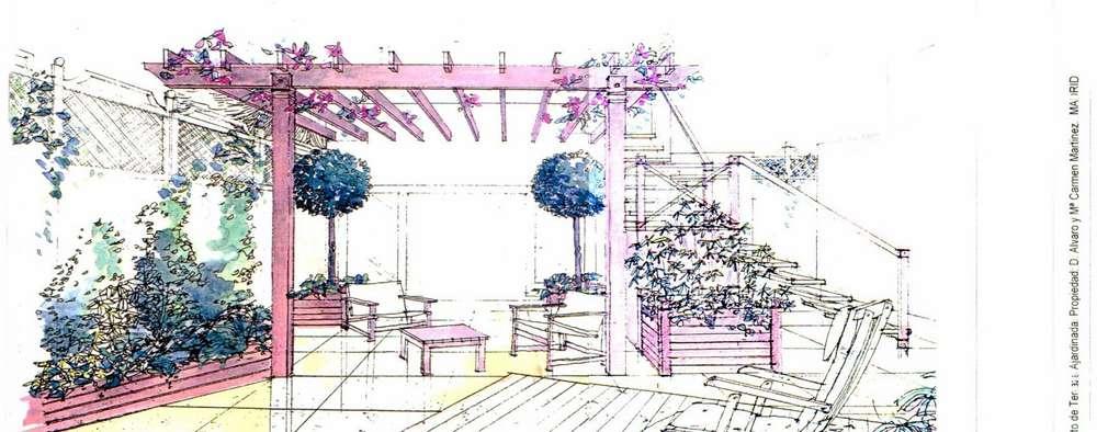 4 jardines modernos con sus planos para inspirarte for Planos de jardines
