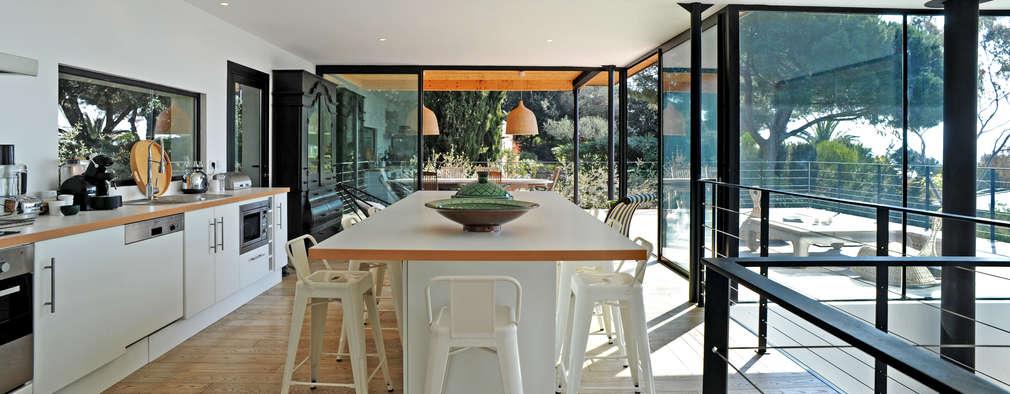 Projekty,  Kuchnia zaprojektowane przez frederique Legon Pyra architecte