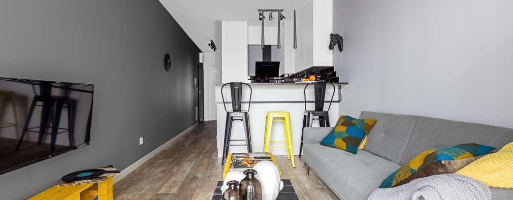 elektryzujące wnętrze: styl , w kategorii Salon zaprojektowany przez Decoroom