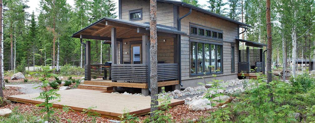 Casas de estilo escandinavo por Woody-Holzhaus - Kontio