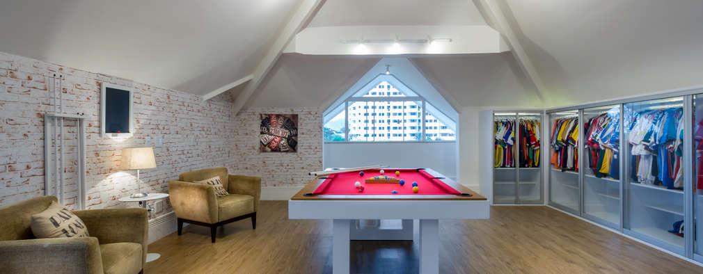 غرفة الميديا تنفيذ Adriana Leal Interiores