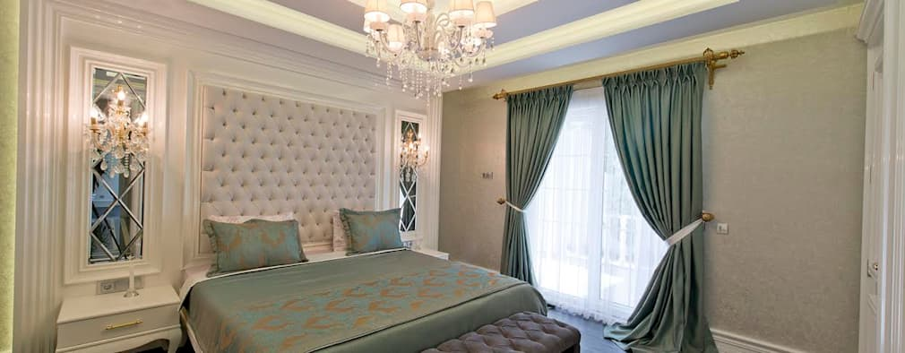 VRLWORKS – Ümit Aslan Villası Kemer: modern tarz Yatak Odası