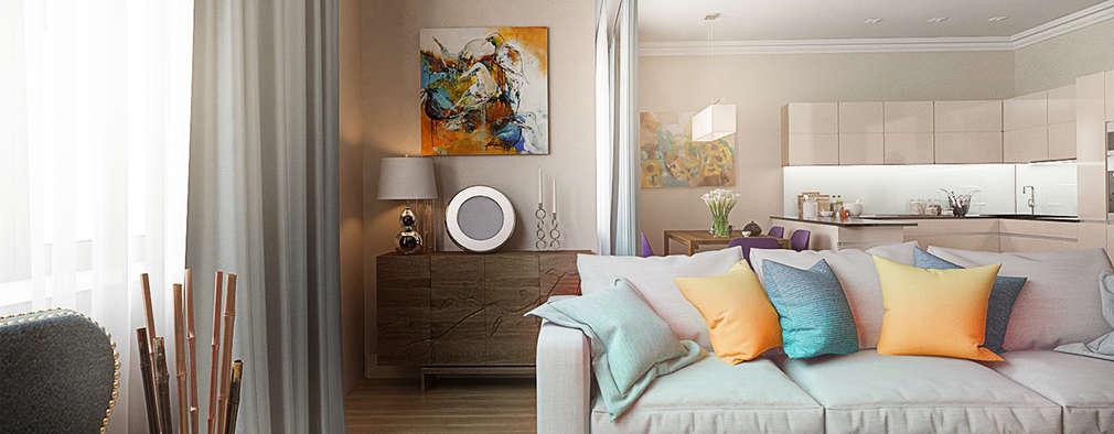 غرفة المعيشة تنفيذ Alexander Krivov