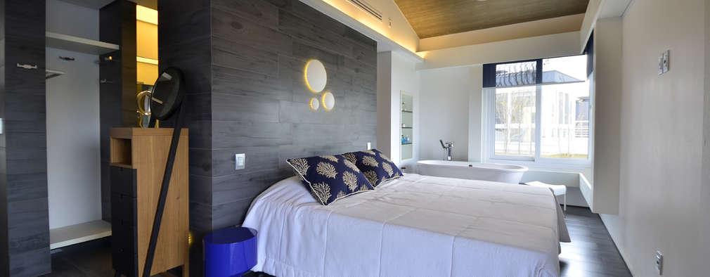 moderne Slaapkamer door HECHER YLLANA ARQUITETOS