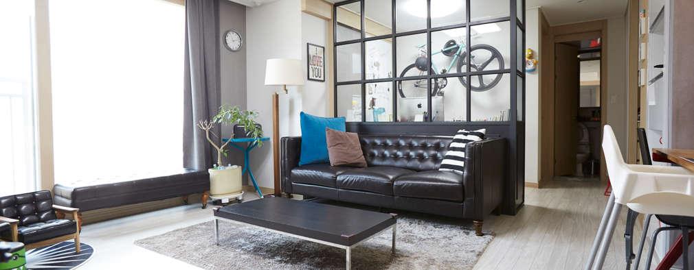 Projekty,  Salon zaprojektowane przez DESIGNSTUDIO LIM_디자인스튜디오 림