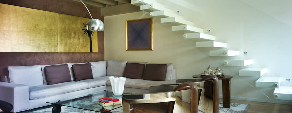 modern Living room by cristina mecatti interior design