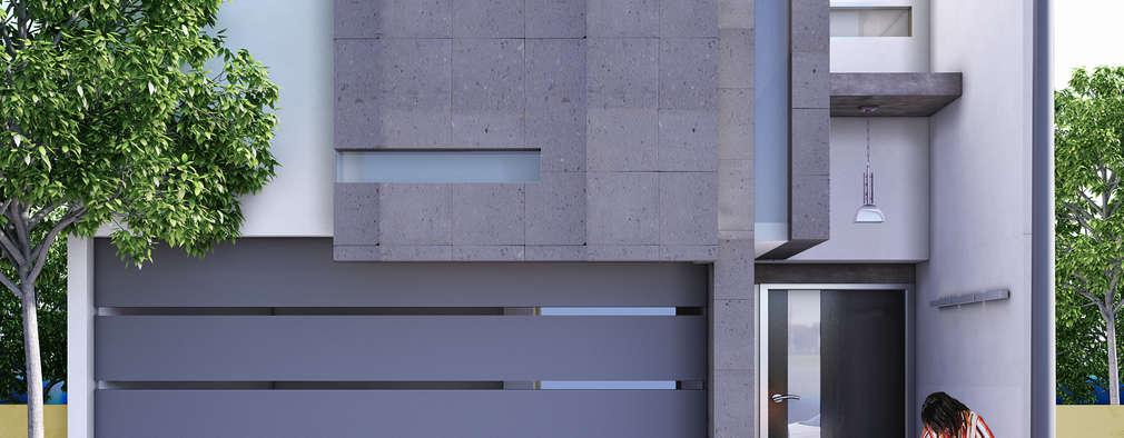 Puertas de entrada de estilo  por Modulor Arquitectura