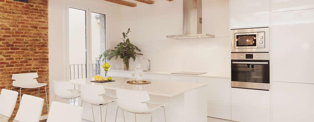 Cucina bianca - Cucina bordeaux e bianca ...