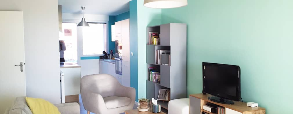 scandinavian Living room by Mint Design