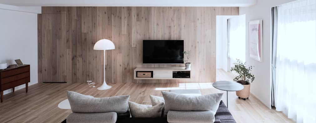 scandinavian Living room by 一色玲児 建築設計事務所 / ISSHIKI REIJI ARCHITECTS