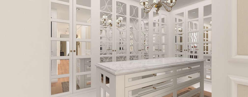 Kerim Çarmıklı İç Mimarlık – A.G. Evi: klasik tarz tarz Giyinme Odası