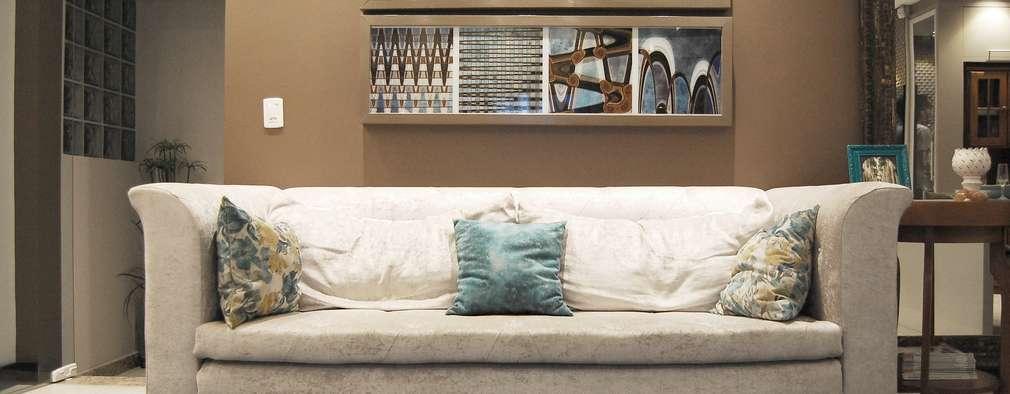 غرفة المعيشة تنفيذ EDW Design de Interiores | LightDesign