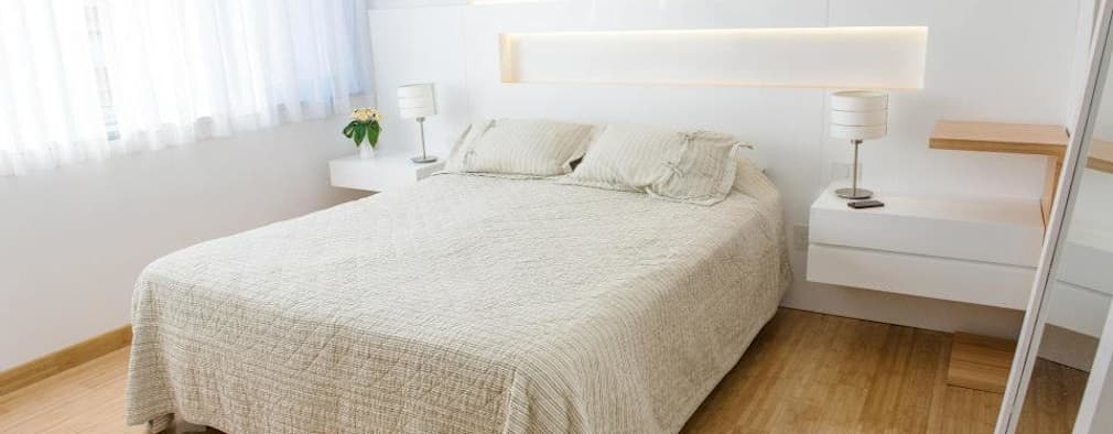 minimalistische Slaapkamer door Trua arqruitectura