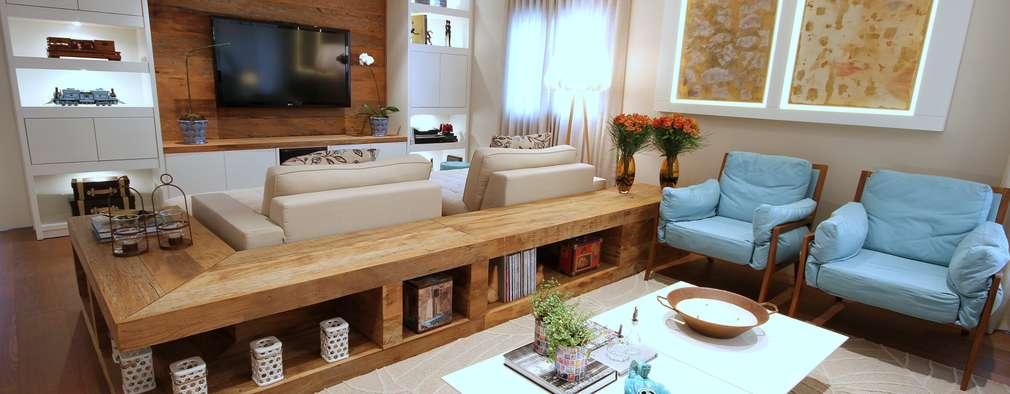 Livings de estilo moderno por MeyerCortez arquitetura & design