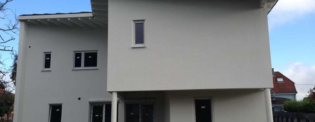 MAISON FAMILIALE EN OSSATURE BOIS: Maisons de style de style Moderne par A.FUKE-PRIGENT ARCHITECTE