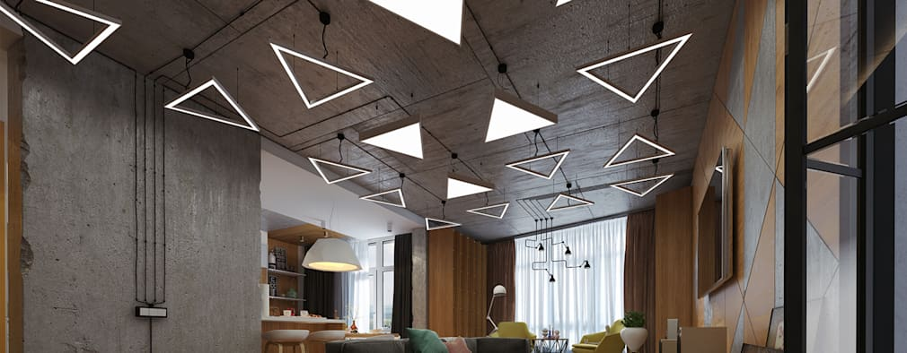 Salas de estilo industrial por Art-i-Chok