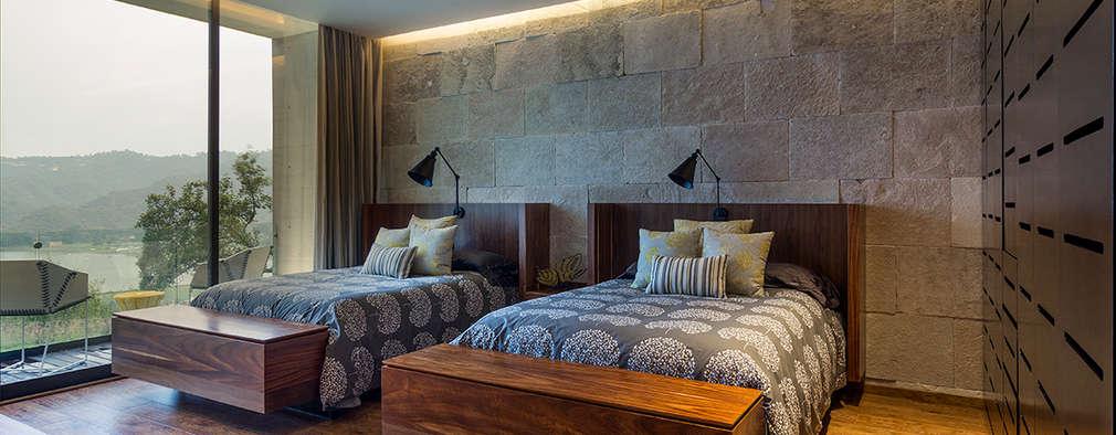 غرفة نوم تنفيذ BURO ARQUITECTURA