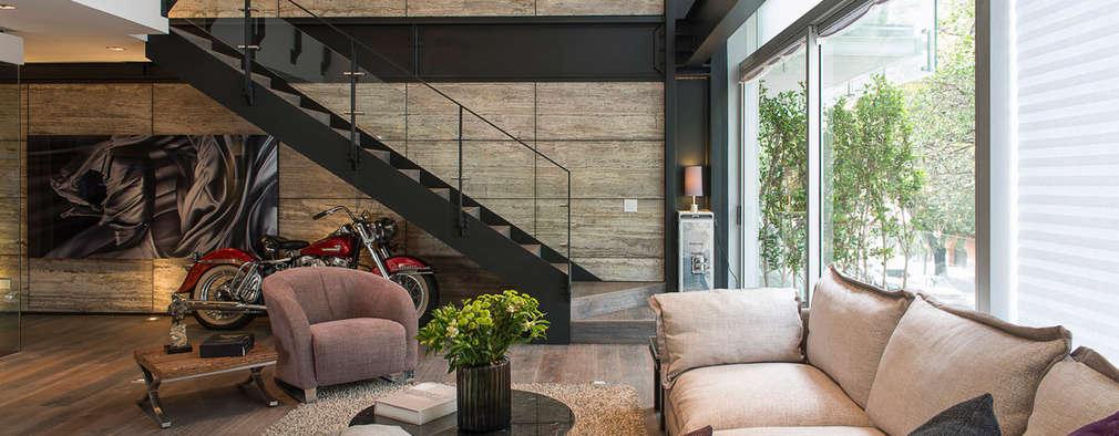 6 escaleras modernas que te dejar n fascinado for Salas con escaleras