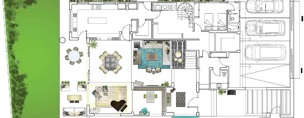 4 casas modernas con sus planos que te van a encantar for Planos de casas medianas