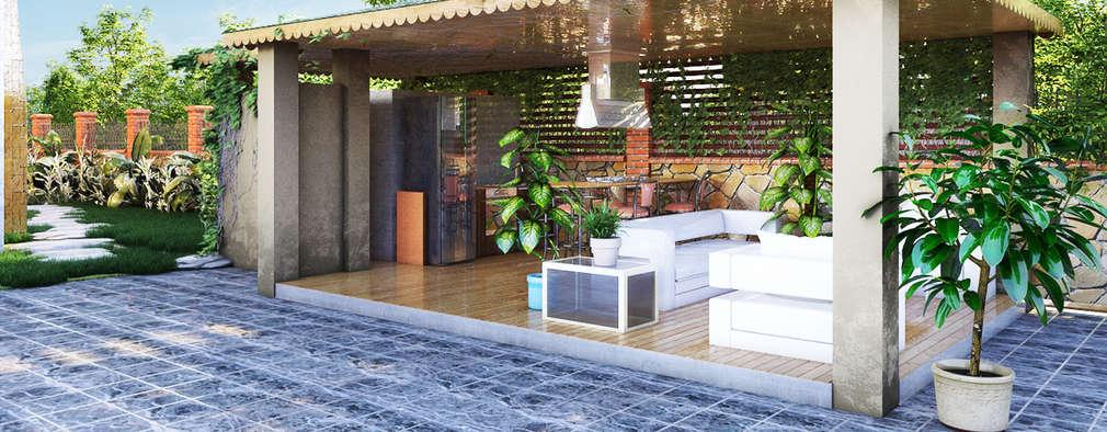 Jardines de estilo clásico por GRNT3D