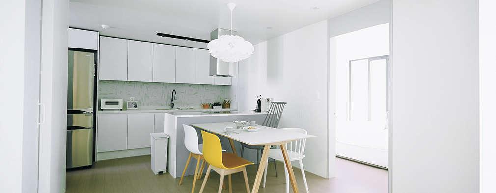 scandinavian Dining room by 샐러드보울 디자인 스튜디오