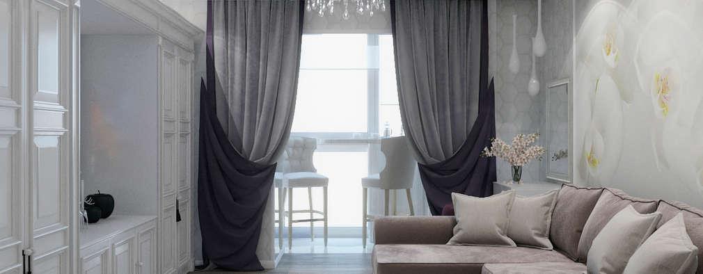 Salas de estilo clásico por Студия дизайна интерьера Маши Марченко
