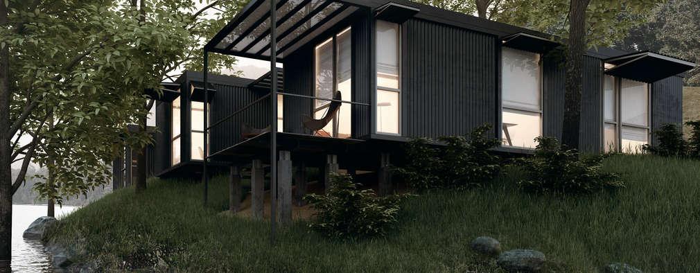 Projekty,  Dom prefabrykowany zaprojektowane przez BS ARQ