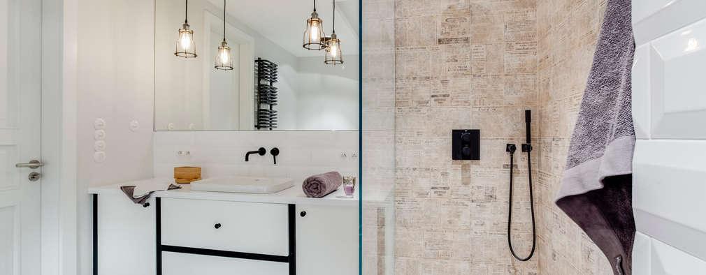 bagno in stile in stile industriale di loft factory