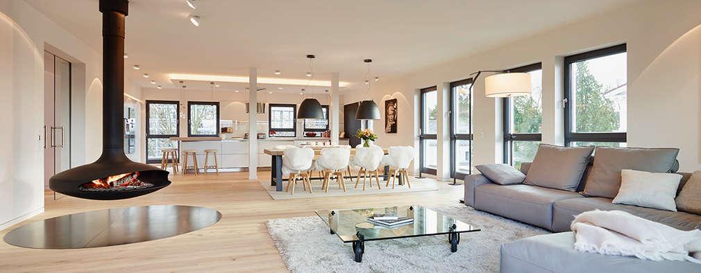Salones de estilo moderno de HONEYandSPICE innenarchitektur + design