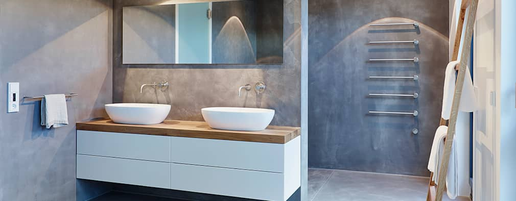 modern Bathroom by HONEYandSPICE innenarchitektur + design
