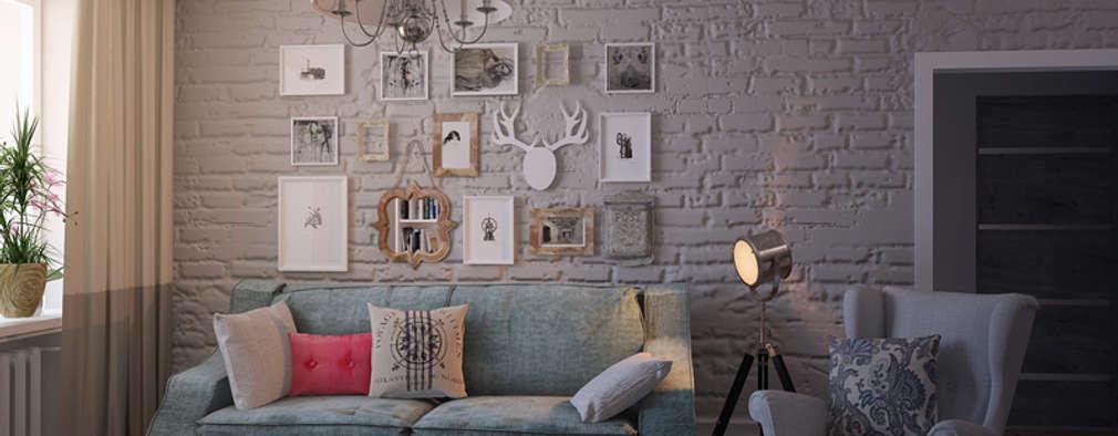 livings de estilo eclctico por tatyana pichugina design