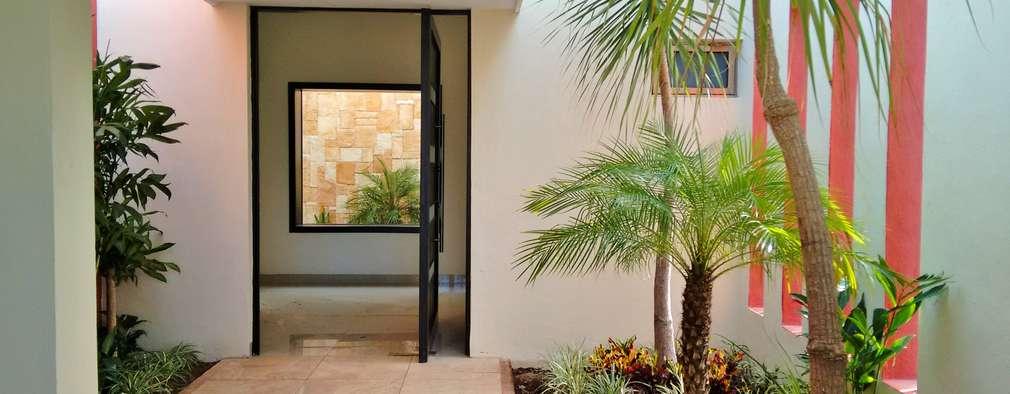 17 jardines para adornar la entrada de casa con mucho estilo for Estilos de jardines para casas