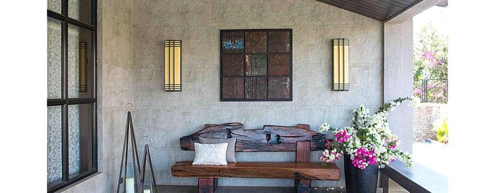 Lonavala Holiday Home :  Terrace by Rakeshh Jeswaani Interior Architects