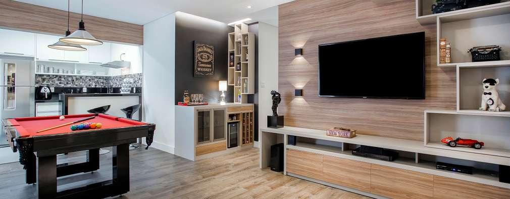 Salas de estilo clásico por Andressa Saavedra Projetos e Detalhes
