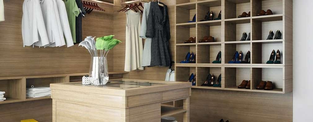 ONE STUDIO: iskandinav tarz tarz Giyinme Odası
