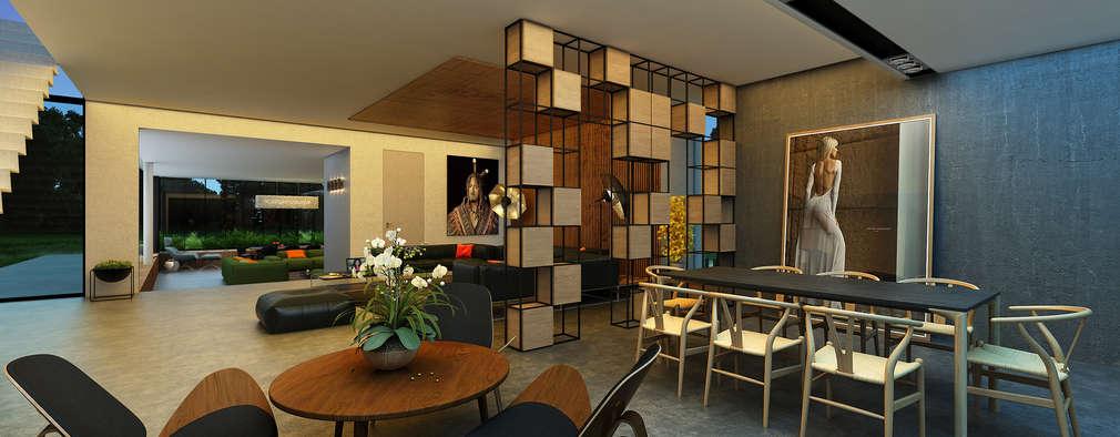 minimalistic Living room by  Aleksandr Zhydkov Architect